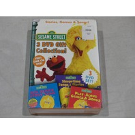 SESAME STREET 3 DVD GIFT COLLECTION NEW
