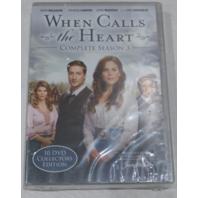 WHEN CALLS THE HEART: COMPLETE SEASON 3 DVD SET NEW