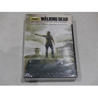 THE WALKING DEAD: THE COMPLETE THIRD AND FOURTH SEASONS DVD SET NEW