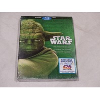 STAR WARS THE PHANTOM MENACE ATTACK OF THE CLONES REVENGE OF THE SITH BLU-RAY