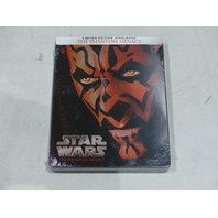 STAR WARS THE PHANTOM MENACE LIMITED EDITION STEEL BOOK BLU-RAY NEW / SEALED