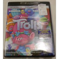 TROLLS 4K ULTRA HD+BLU-RAY+DIGITAL HD NEW