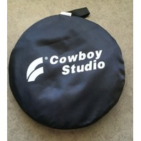 """COWBOY STUDIO 5-IN-1 24"""" X 36"""" REFLECTOR - SILVER &  BLACK"""