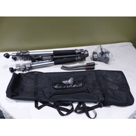 INDUSTRIAL TRIPOD COMES WITH HEAD, HANDLE BARS, CLAMPS,  AND CARRY CASE