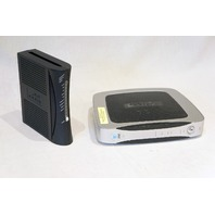 ARRIS TM402P/NA-1 716691 VOIP MODEM & AT&T 2WIRE 3600HGV DSL GATEWAY