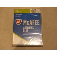 MCAFEE ANTI-VIRUS PLUS 2017 FOR 10 DEVICES 1 YEAR NEW / SEALED MAV17ESA0RAA