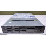 SUNMICRO SUNFIRE X4270 SERVER 4493510-5 2* E5520 2.26GHZ 72GB RAM 9*146GB SAS