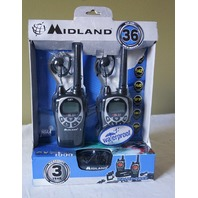 MIDLAND 2-WAY RADIOS GXT1000VP4 PRO SERIES W/ HEADSET BATTERIES & ACCESSORIES