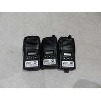 LOT OF 3* MOTOROLA HANDHELD VERTEX STANDARD RADIOS VX-18OU