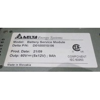 DELTA ENERGY SYSTEMS / IBM BATTERY SERVICE MODULE D0105510/06 22R4418