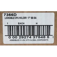 LOCKABLE / HEIGHT ADJUSTABLE CPU / COMPUTER TOWER HOLDER BB BA 7366D NEW!
