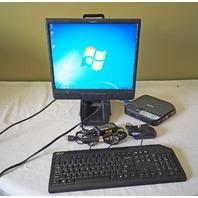 "PLANAR PL1700M 17"" LCD MONITOR W/ ACER VERITRON VN260G ATOM N280 150GB HDD WIN 7"