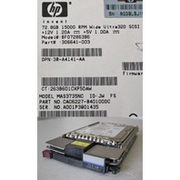 HP 72.8GB 15K 80P ULTRA 320 SCSI HARD DRIVE 306641-003