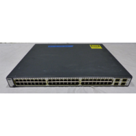 CISCO 48-PORT SWITCH C3750G-48PS-S PORT 48 FAILS POE