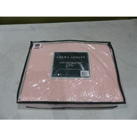 LAURA ASHLEY COTTON BLANKET TWIN PINK 66X90 IN
