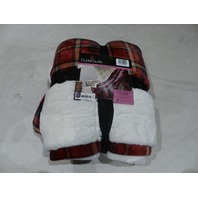 CUDDL DUDS THROW BLANKET IN RED PLAID 411 40 41 RED PLAID