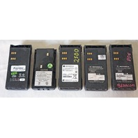 LOT OF 5* MISCELLANEOUS 2-WAY RADIO BATTERIES NI-CD FRONTIER MOTOROLA & MORE!