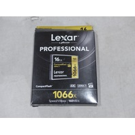 LEXAR PROFESSIONAL 16GB COMPACT FLASH 4K 1066X 160MB