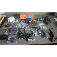 LOT OF MISC CORDS/PHONE BATTERIES/CABLES/ HEADPHONES