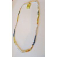 MULTI-COLOR SAPPHIRE STRAND NECKLACE W/ 51.7CTW SAPPHIRES + 18K YELLOW GOLD