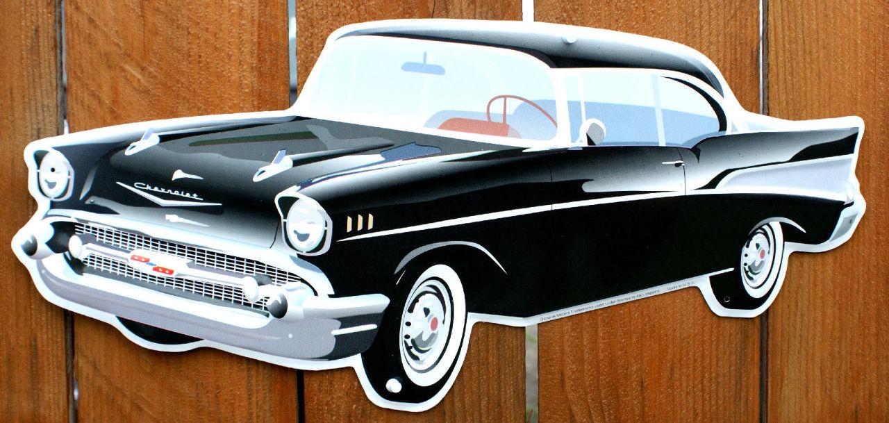 Chevy bel air die cut metal sign chevrolet mechanic 1950 39 s for Garage bel auto 38400