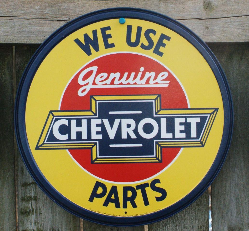 Corvette Man Cave Signs : Genuine chevrolet parts tin metal round sign man cave