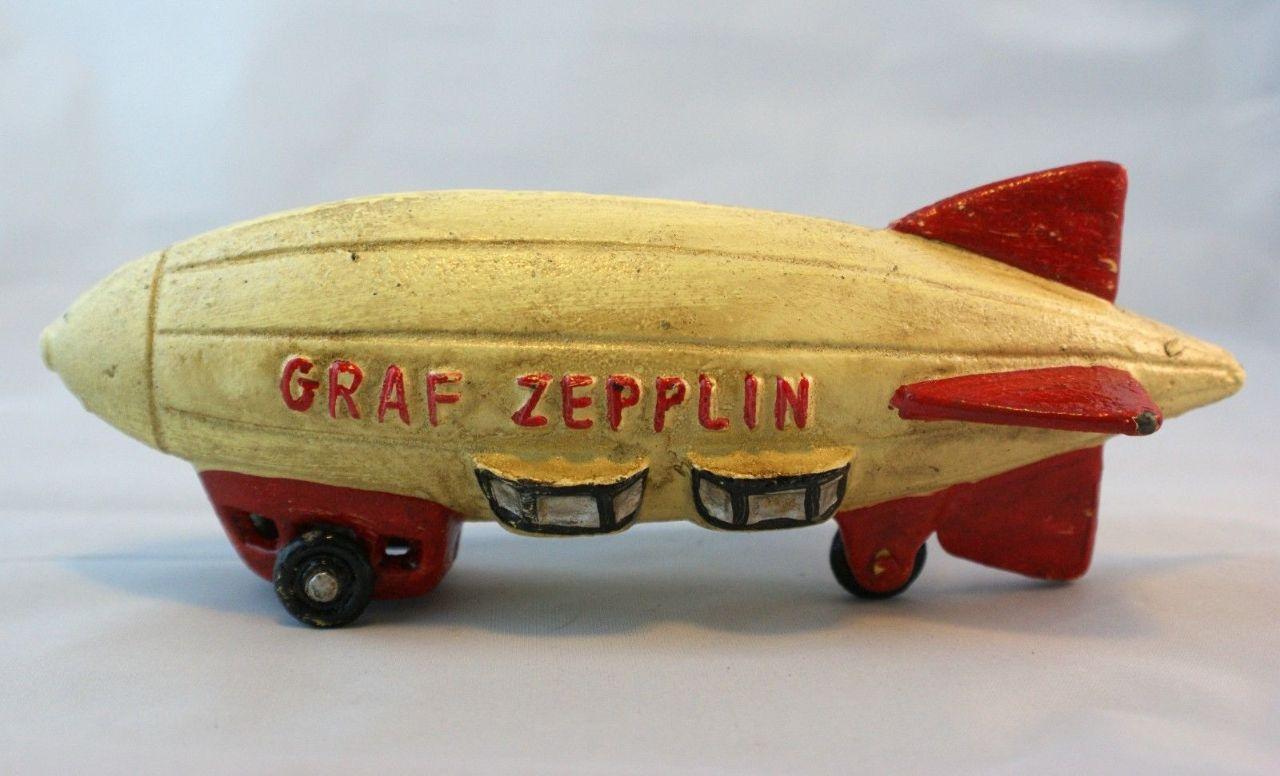 Graf Zepplin Zeppelin Cast Iron Toy Blimp Vintage Style