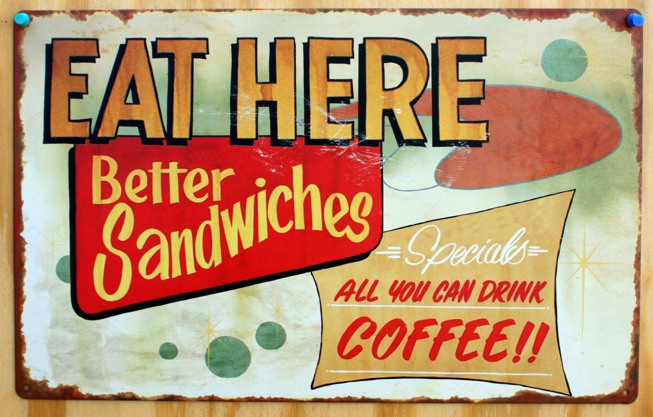 Vintage Restaurant Sign 81
