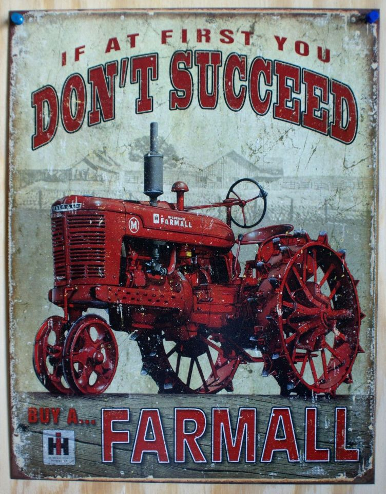 farmall tin sign farm tractor country barn international harvester