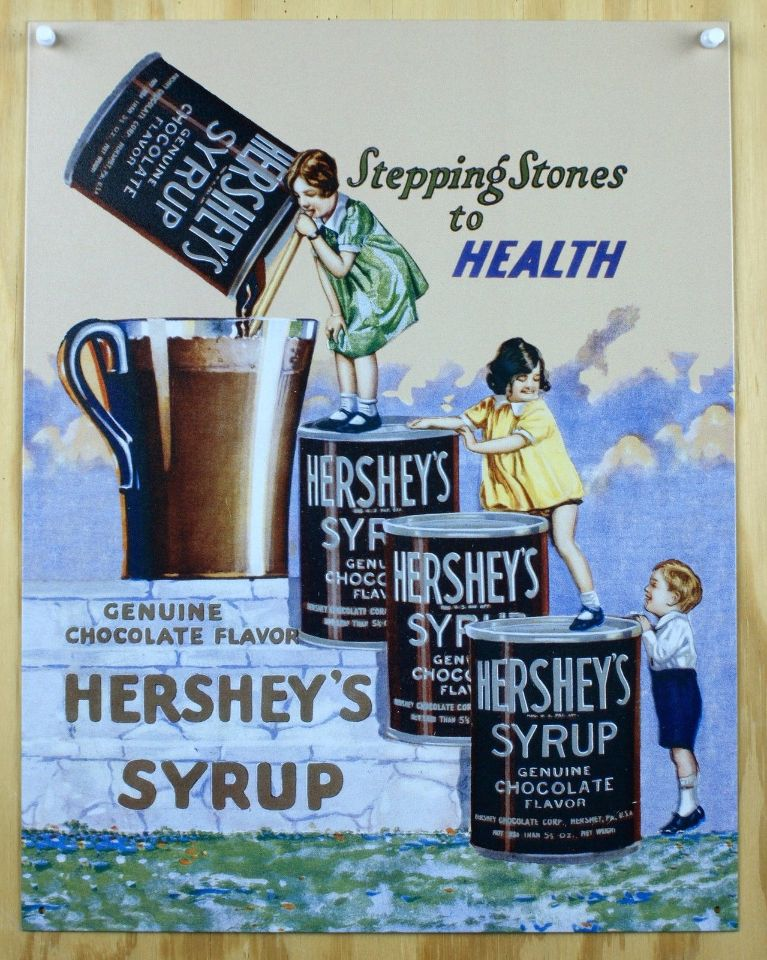 Hershey S Syrup Tin Sign Hershey Hot Chocolate Milk Candy