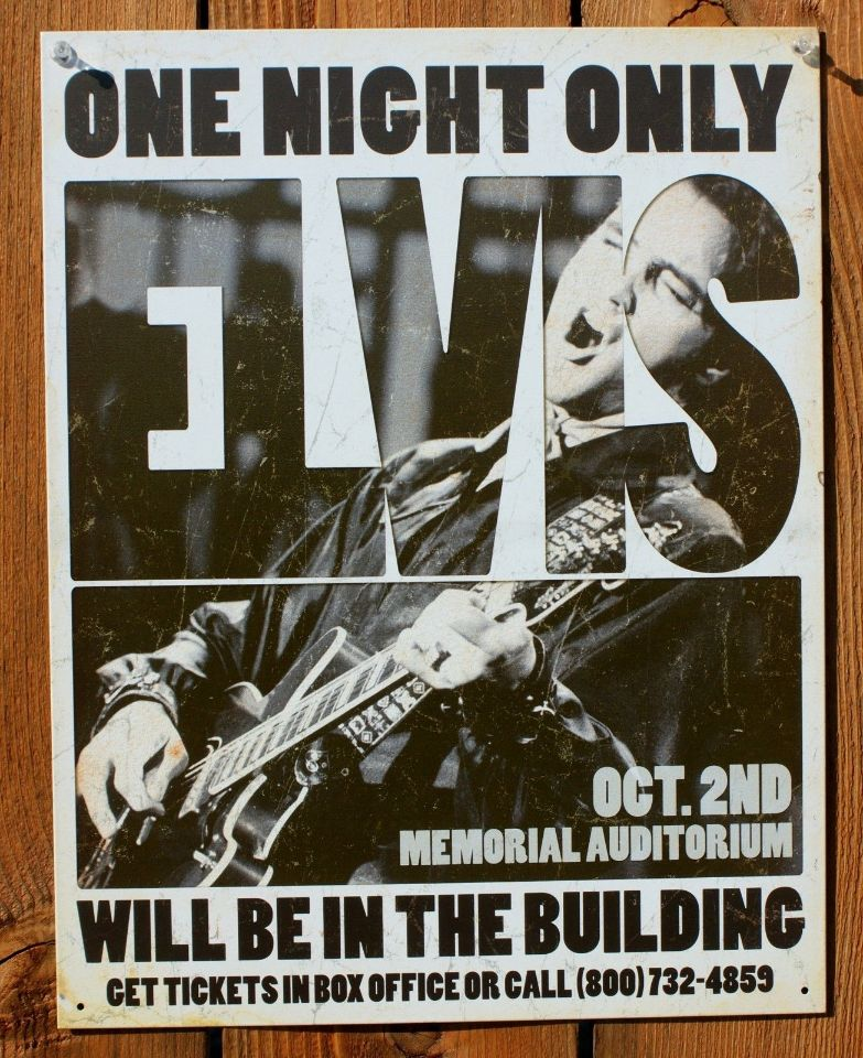 Elvis Presley Gig Concert Poster Tin Sign Rock Amp Roll Home
