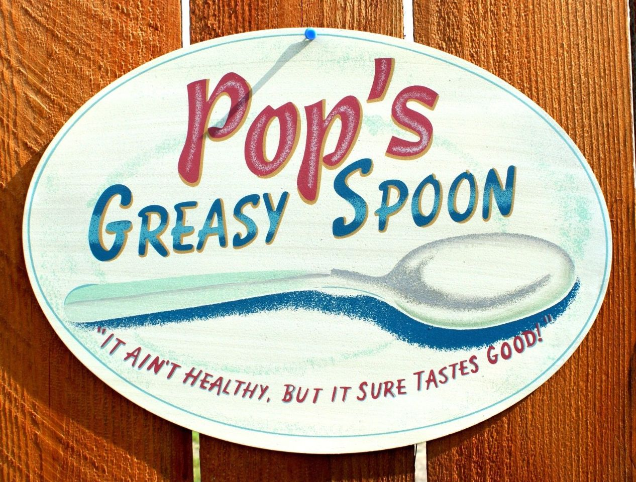 Pops Greasy Spoon Tin Sign Country Kitchen Home Farm Home