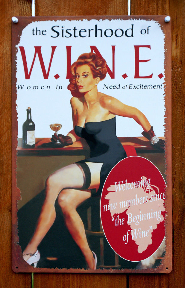 The Sisterhood Of Wine Women In Need Of Excitement Tin