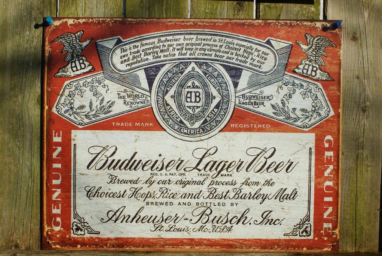 Bud Light Man Cave Signs : Budweiser bud logo tin sign garage man cave bar beer