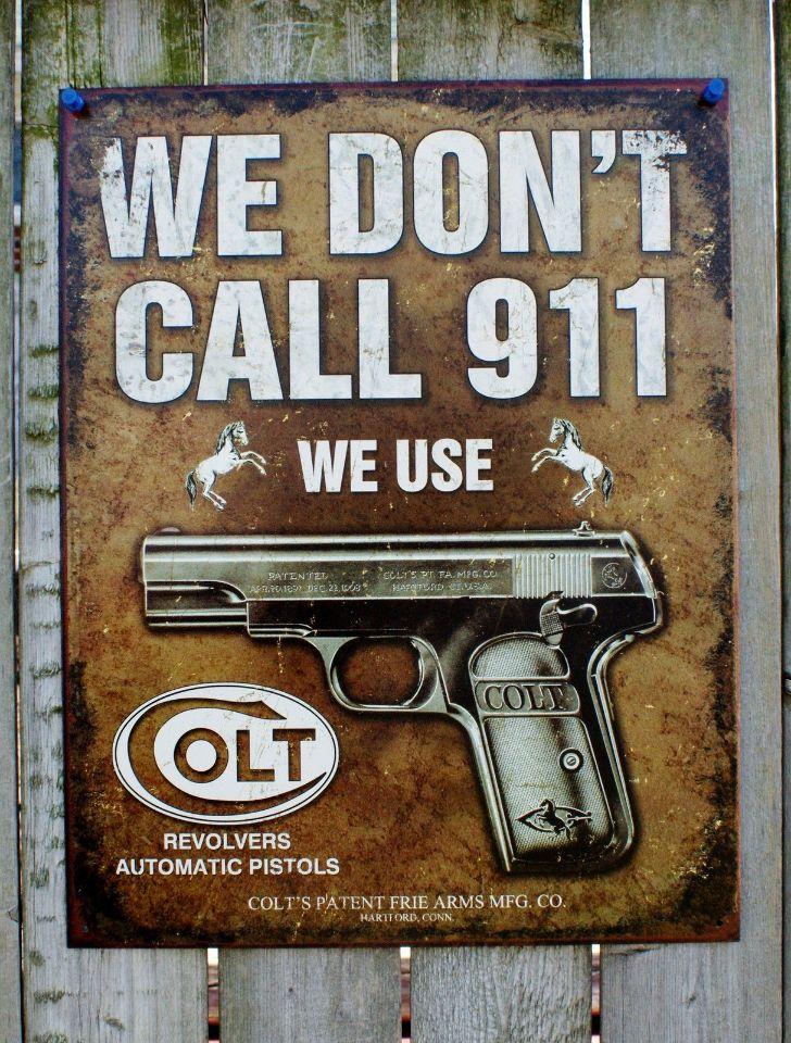 Man Cave Signs For Garage : Colt tin sign man cave garage alarm system hand gun pistol