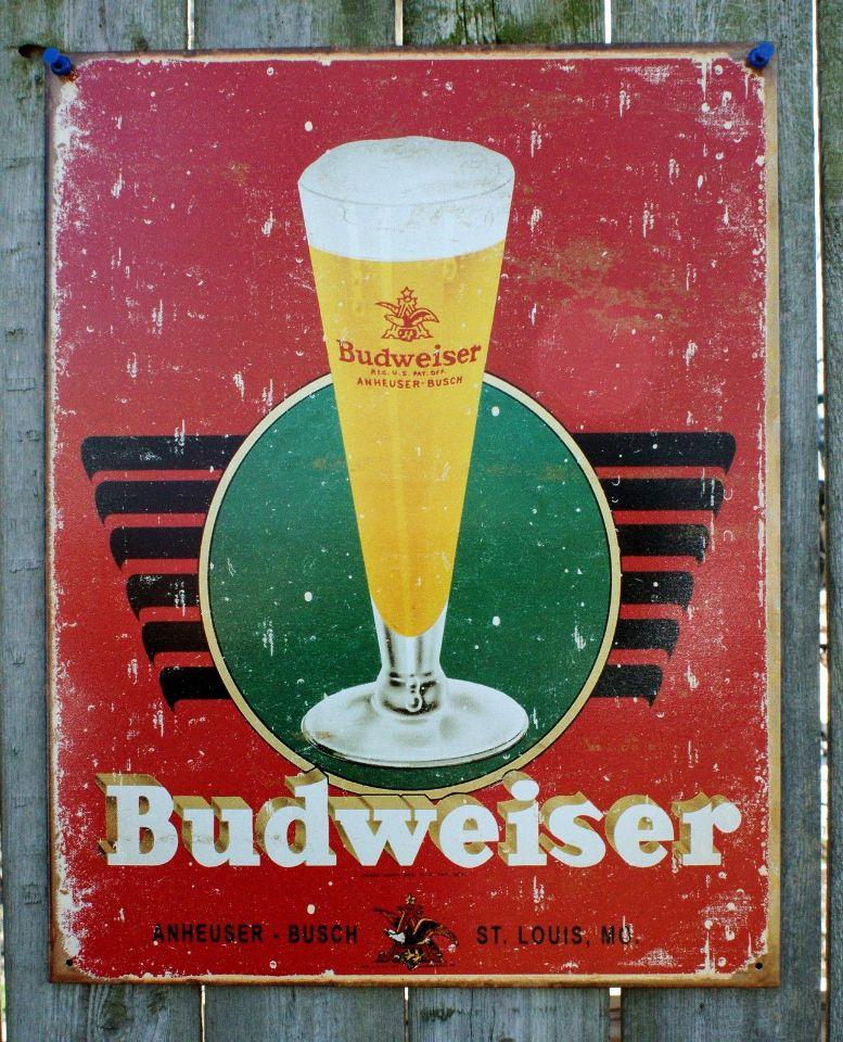 Budweiser Anheuser Busch Tin Sign Man Cave Garage Bar Beer Alcohol Bud Lite 15A