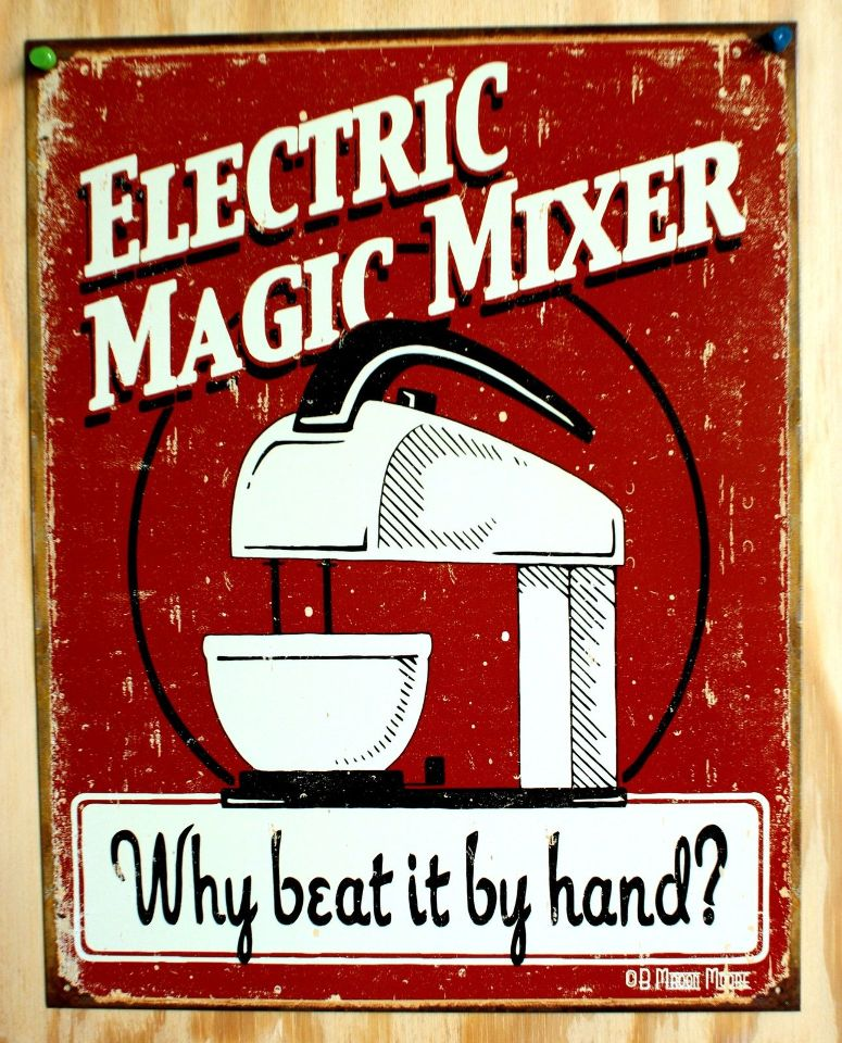 Electric Man Cave Signs : Electric magic mixer why beat by hand tin sign man cave