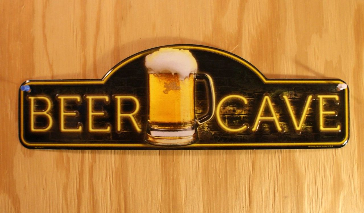 Man Cave Beer Signs : Beer cave tin metal sign man bar pub game room alcohol