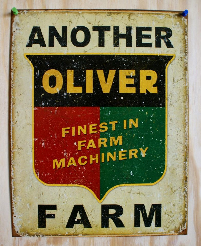 Barn Garage Signs : Another oliver farm tin sign tractor country barn garage