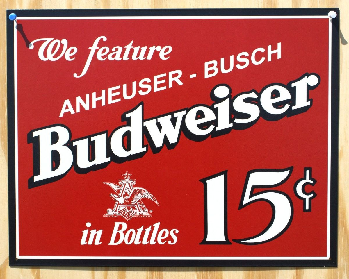 Man Cave Signs Metal : Budweiser anheuser busch tin sign man cave garage bar beer
