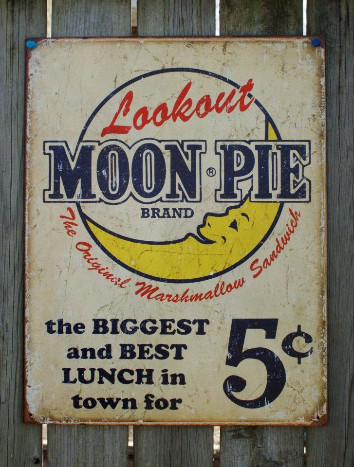 Lookout Moon Pie Ad Tin Sign Garage Vintage Style Home Country