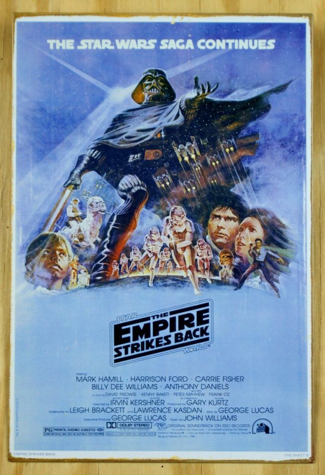 star wars the empire strikes back movie poster tin sign