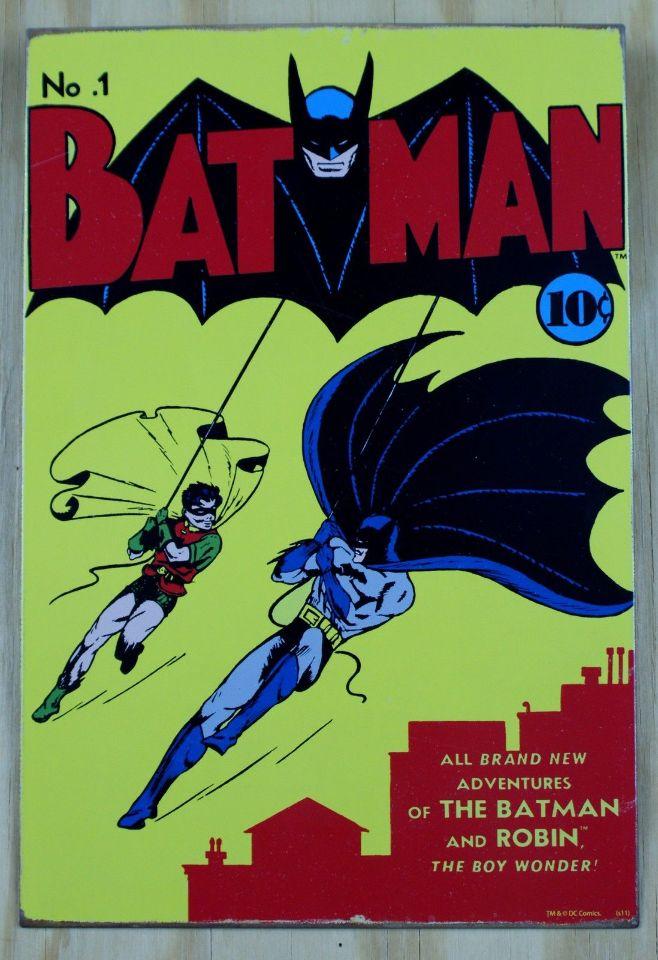 Tin Sign Vintage Batman
