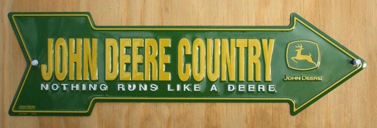 John Deere Tin Sign John Deere Country Not...