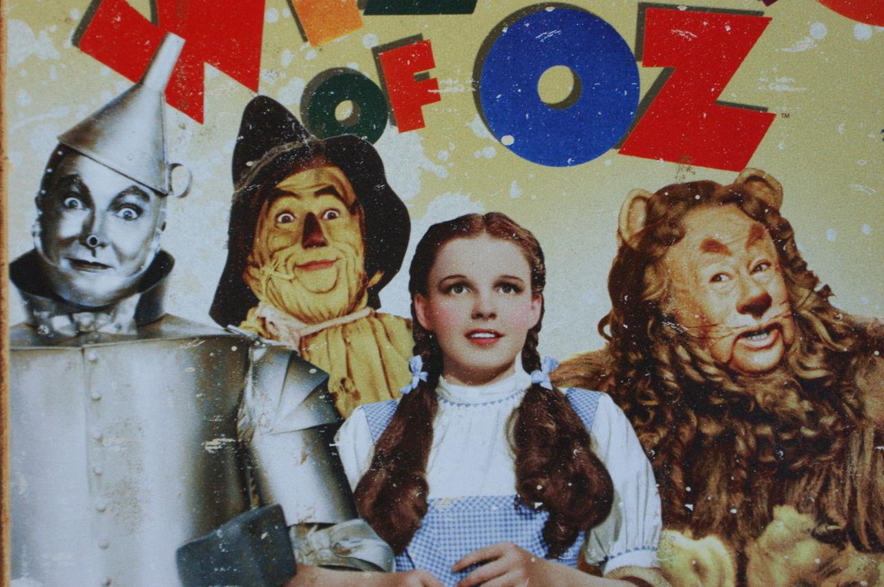 wizard of oz tin metal sign movie poster tin man dorothy