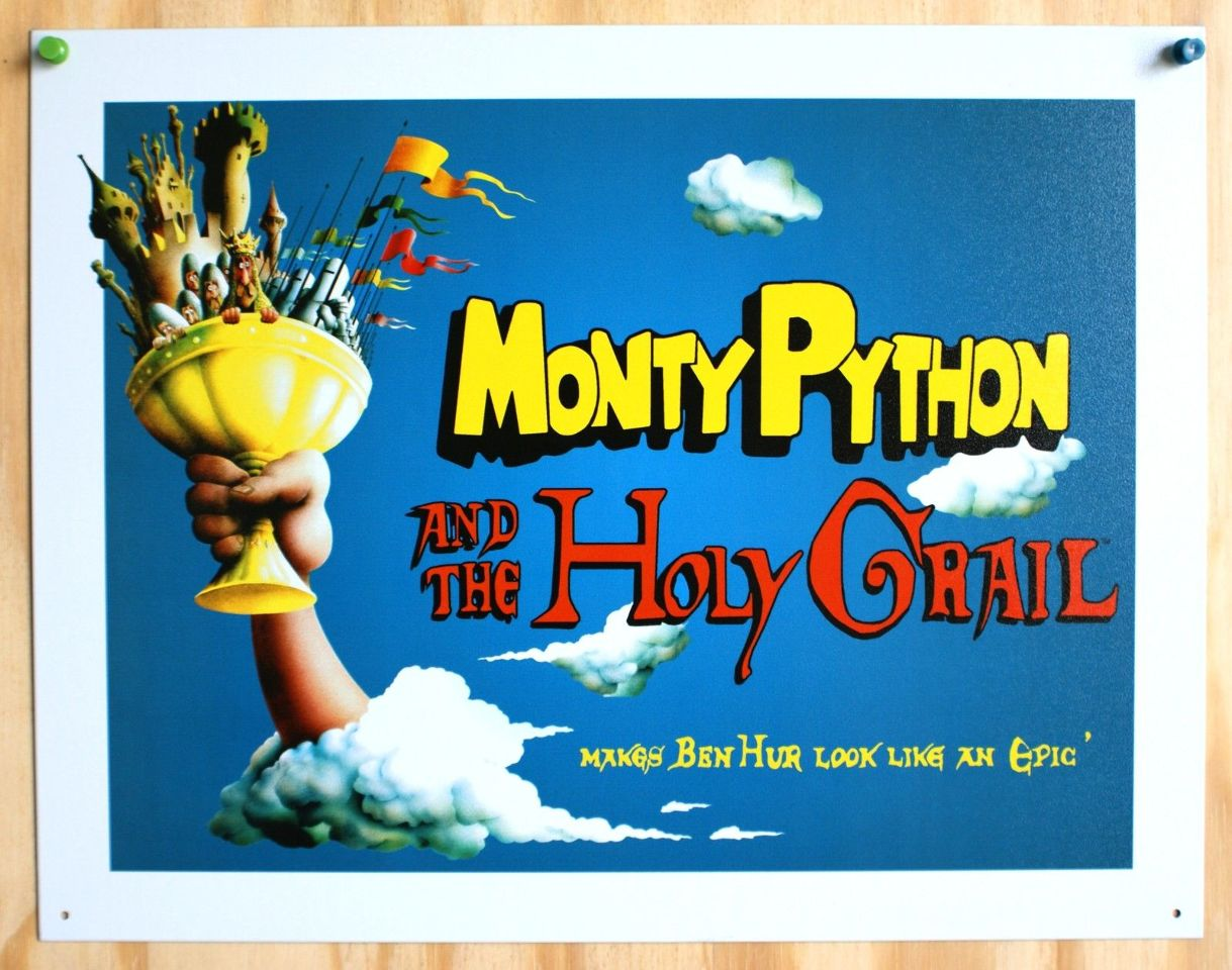 Monty Python and the Holy Grail Tin Sign Movie Poster Classic Comedy Film  BBC 1