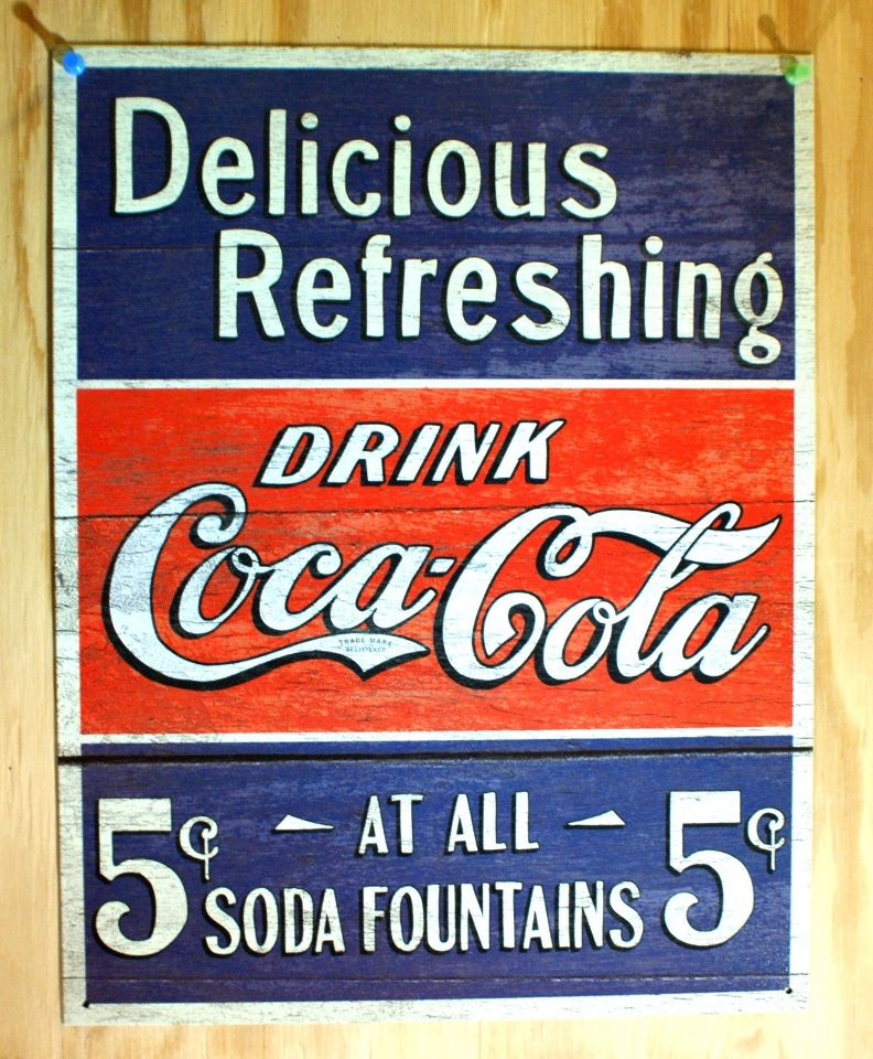 "BRAND NEW Coca-Cola Retro Tin Sign 16/"" x 12.5/"" Delicious and Refreshing"