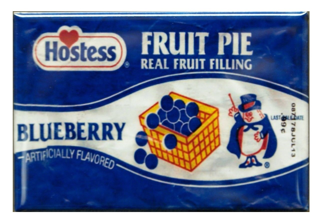 Merveilleux Hostess Blueberry Fruit Pie Refrigerator FRIDGE MAGNET Ad Kitchen Decor G6
