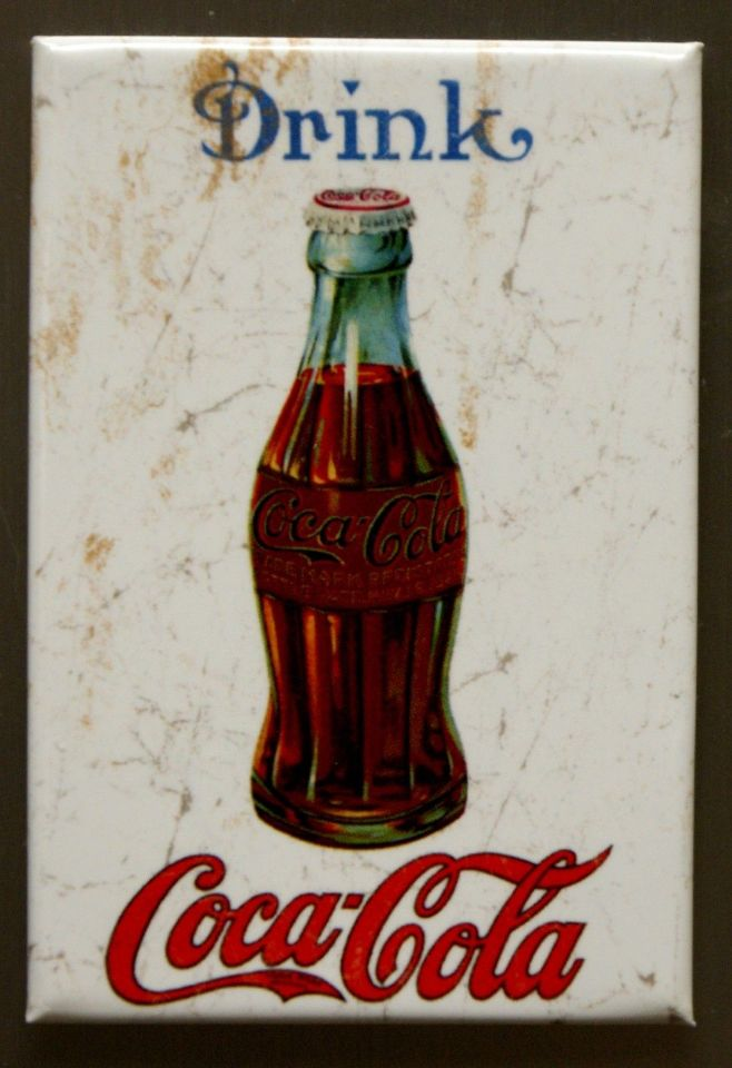 Drink Coca Cola Refrigerator Fridge Magnet Coke Soda Pop