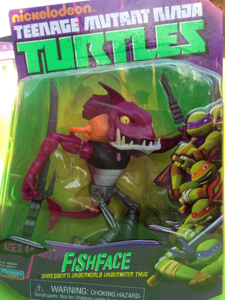 TMNT FISHFACE Figure Shredder's Thug Playmates toy Teenage ...